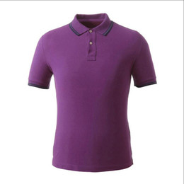 2019 polo deportivo diseño de la camisa Psradas Polos Tee Shirts Hombres Patch rayas Diseño suéter de manga corta de color sólido para hombre de Deporte Polos nave libre del algodón Breve estilo rebajas polo deportivo diseño de la camisa