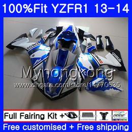Kit de carenagem yamaha r1 azul on-line-Corpo de injeção para YAMAHA YZF luz azul 1000 YZF R 1 YZFR1 2013 2014 242HM.4 azul novo YZF-1000 YZF R1 YZF1000 YZF-R1 13 14 Kit Carenagem Completa