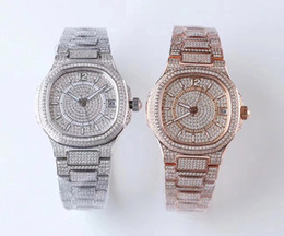 Senhoras relógios de prata on-line-2019 hot style lady watches Caros relógios das mulheres relógio automático de platina 324C relógio mecânico fino relógio jf diamante