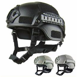 Proteger el equipo online-Calidad Ligero Casco RÁPIDO MH Casco táctico Airsoft Gear Paintball Cabeza protectora para CS SWAT Riding Hunting Shoot Protect
