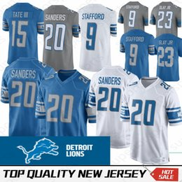 Canada 9 Matthew Stafford Maillot Detroit Lion 23 Darius Slay JR 20 Barry Sanders 15 Maillots Golden Tate III Couleur Rush 100% Brodé Qualité supérieure cheap football jerseys color Offre