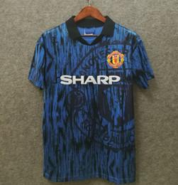 74df791462a manchester Cantona 93 94 Man blue Beckham Soccer Jersey 1993 1994 Retro UTD Classic  Football Shirt Giggs United Green Maillot de Foot