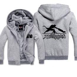 a0efd7e85 roupas casuais em linha Desconto Espada de Arte Em Linha Jaqueta para  Homens Mulheres Kid Moletom