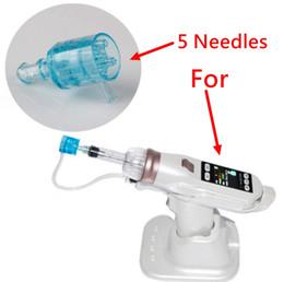 Mikro-meso-patrone online-5 Nadeln Unterdruckpatrone Für EZ Vacuum Mesotherapie Meso Gun Mikro Nadelsystem Wasser Meso Injektionspistole Gesicht Bleaching