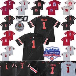 camisetas de fútbol del estado de ohio Rebajas 2020 Fiesta Bowl Ohio State Buckeyes Justin campos Jersey JK Dobbins 2 Chase Young Nick Bosa 15 Elliott OSU Fútbol jerseys 150º Hombres Jóvenes