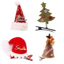 2019 bogen für weihnachtsbäume Neue Stil Weihnachten Niedliche Haarbögen Mit Glitter Weihnachtsbaum Hüte Muster Haarspangen Für Kinder Party Hairwear Haarschmuck günstig bogen für weihnachtsbäume