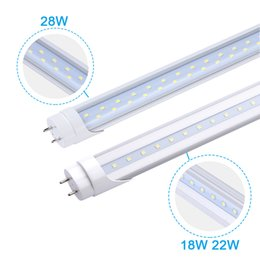 Remplacement des ampoules fluorescentes en Ligne-4 pieds G13 LED TUBE ampoules T8 1.2M 18W 22W 28W blanc froid 4ft LED luminaires 4feet fluorescent remplacer lampe