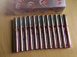 рождественские праздники наборы Скидка Новый Горячий макияж 12 Дней Рождества Помада Vault Holiday Помада 12 шт. Набор матовый жидкий блеск для губ DHL Доставка + подарок KL