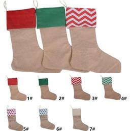 12 * 18inch New alta qualidade da lona sacos de presente meia do Natal Xmas meia do Natal meias decorativas sacos k0498 de
