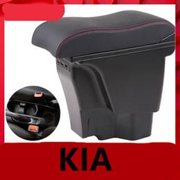 volkswagen karte Rabatt für Kia Rio III Armlehnenbox Kia Rio 3 Central Store Inhalt Box Getränkehalter 2012-2016 Automotive Nachrüstzubehör