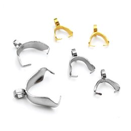 Achar conector de jóias on-line-100 pcs Elipse De Aço Inoxidável 316L Fivela Pingente Conectores para Colar Brinco Jóias DIY Finding