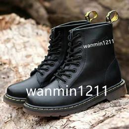2020 New couro genuíno botas homens e mulheres de inverno neve botas Doc Martens sapatos tornozelo Botas DMS Designer de sapatos Martins de