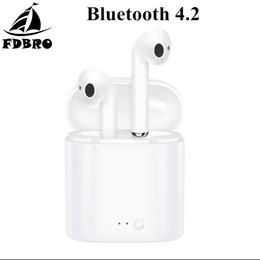 Canada FDBRO i7s TWS Mini Sans Fil Bluetooth Écouteur Stéréo Basse Musique Écouteurs Sport Casque Avec Micro Boîte De Recharge Pour Téléphone Android Offre