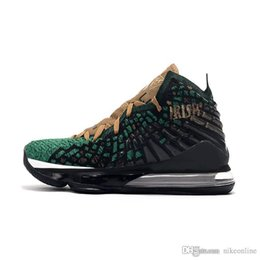 James brown pallacanestro online-mens economici lebron 17 scarpe da basket irlandese Green Gold Brown Christmas Red Carpet giovanili nuovi lebrons James sneakers xvii stivali con box
