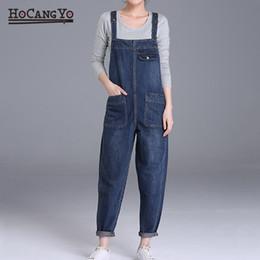 2e1919536c HCYO Plus Size 6XL Women Denim Jumpsuits Pants Loose Casual Wide Leg Denim  Overalls Women 200 Pounds Fat MM Jumpsuit Rompers  400852 discount wide leg  denim ...
