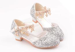 Produtos de doces on-line-2019 novo Sapatos de salto alto para crianças hot-venda de produtos A princesa sapatos de verão moda doce sapatos de dança brilho da menina de Diamante de salto alto