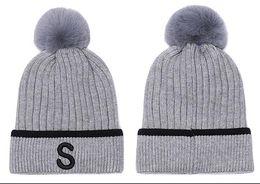 2020 sombreros de esquí de las mujeres De calidad superior unisex diseñadores de moda Diamond S Gorro beanies hombres sombrero de lana ocasional deportes casquillo hecho punto gorros de esquí pom mujeres cráneo gorras capos sombreros de esquí de las mujeres baratos