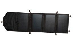 2019 carregador solar banco laptop Carregador de energia de painel solar dobrável 7W de alta eficiência emergente para celular com USB universal 5V