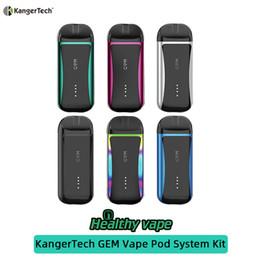 2019 kangertech nano vape Kit 100% originale KangerTech GEM Vape Pod Kit 100 mAh con capacità Pod 2mL vs trascinamento nano kangertech nano vape economici