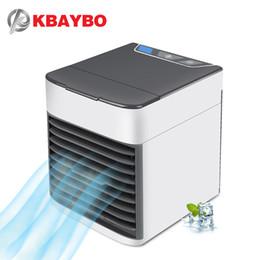2019 вентиляторы для кондиционирования воздуха KBAYBO USB кондиционер вентилятор мини-охладитель воздуха холодильник мобильный портативный кондиционер с 7 цветами светодиодный свет для дома дешево вентиляторы для кондиционирования воздуха