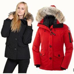 2019 justin bieber revestimento vermelho Casacos de inverno canadá ao ar livre para as mulheres engrossar casual confortável espessamento quente para baixo roupas mulheres ganso jaqueta de inverno casaco