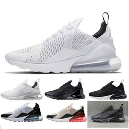 2019 nouvelle photo chaude nike air max 270 27c airmax 2019 nouveau Chaussures De Course Hommes Femmes Formateur BE TRUE Hot Punch Triple Noir Blanc Oreo Teal Photo Bleu Baskets De Sport Taille 5.5-11 nouvelle photo chaude pas cher
