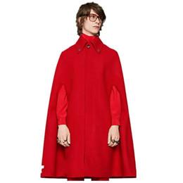 Mens lana cashmere mantello scamosciato addomesticato mantello lungo mantello lungo cappotto di lusso gotico di alta qualità rosso di Natale da merci del cortile fornitori