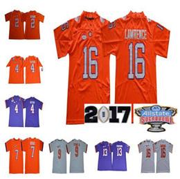 Ncaa Clemson Tigers Jersey 16 Trevor Lawrence 4 Deshaun Watson 2 Kelly Bryant 9 Travis Etienne Jr 13 Hunter Renfrow College Football Jersey