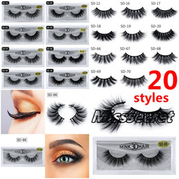 free eyelashes Coupons - 20 styles 3D Mink Eyelashes Eye makeup Mink False lashes Soft Natural Thick Fake Eyelashes 3D Eye Lashes Extension Mink lashes DHL Free