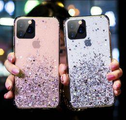 Блестящие сотовые телефоны онлайн-новейший блестящий блеск звезды сотовый телефон Случай 4 цвета exopy для iPhone 11 про макс X XR XS Max 6 6s 6plus 7 7plus 8 8plus мягкая TPU задняя крышка