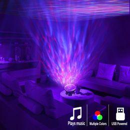 Okyanus Dalga Projektör LED Gece Işığı çocuk Yatak odası için 7 Işık Cosmos Yıldız Luminaria Müzik Çalar Uzaktan Kumanda Yerleşik nereden kristal dönen led tabanlı tedarikçiler