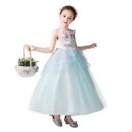 Vestido de noite de dia das crianças vestido de casamento longo saia de saia de menina de flor saia infantil de