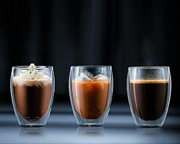 Deutschland Großhandel Doppelwand Isolierglas Trinkglas klare Tasse für Kaffee Wein Tee Milch Champagner Cocktails Saft oder Wasser # 9 Versorgung