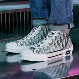 Neueste 19SS Männer Designer-Schuhe OBLIQUE Homme 091531Ðior X Kaws0 von Kim Jones B23 Freizeitschuhe High Top Sneakers von Fabrikanten