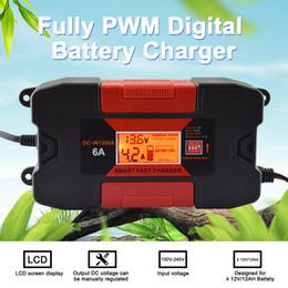 2019 caricabatteria 12v 6a 4A / 6A 12V Auo auto Smart Battery Charger 100V-240V EU Plug Protezione a temperatura completamente PWM Battery Charger sconti caricabatteria 12v 6a