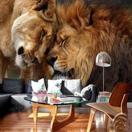 Telón de fondo de tv online-Costumbre fondo de pantalla de alta definición y dominante 5D animales león photography pared de TV telón de fondo gran mural sala de estar papel de la pared telón de fondo de Animales