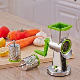 Food Chopper Vegetable Slicer Multi-Função Cortador De Frutas Rápido, manual Rotary Queijo Grater-Round Tumbling Caixa De Picador Triturador para Nozes de