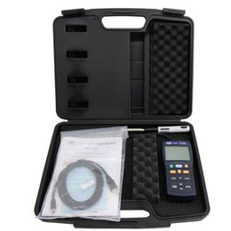 2019 velocidades de fluxo TES-1341 Digital Medidor De Fluxo De Ar Do Vento Medidor de Fio Quente Anemômetro Medidor de Velocidade de Tester