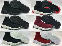 стальная заслонка Скидка 2018 г. 90 новых парижских дизайнеров скоростных трендов из эластичного трикотажа средне-черного цвета, белые кроссовки, дышащие носки, ботинки, туфли, мужские, повседневные туфли 36-45.