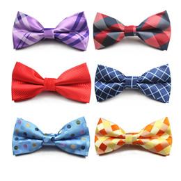 2019 pajarita rayada roja RBOCOTT Vintage Blue Plaid Bow Tie Pajaritas de los hombres Rayas tradicionales Rojo Negro Marrón Pajaritas Para Novios Negocios Boda rebajas pajarita rayada roja