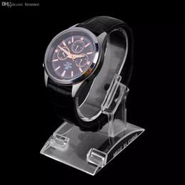 Оптово-1ps Прозрачный акриловый браслет часы держатель дисплея стойки стойки розничного магазина витрина высшего качества от Поставщики оптовые ящики для подарков подарков