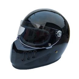 46 helm Rabatt Motorrad Integralhelm Cruiser Fiberglas Helm mit Schild für Vintage Cafe Racer Casco Retro Fahrradhelm cool