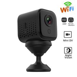 cámaras de control de sonido Rebajas detección de movimiento 1080P mini WiFi cámara W16 visión nocturna de HD MINI DV DVR cámara inalámbrica de video vigilancia remota Monitor de aplicación de teléfono