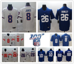 football eli manning Promotion New Jersey ny hommes géant York 8 Daniel Jones 26 Saquon Barkley 15 d'or Tate III 10 Eli Manning 56 Lawrence maillots de football Taylor