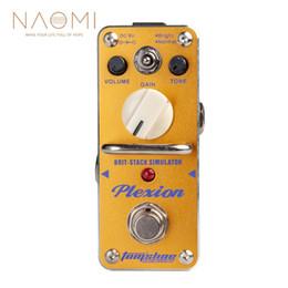 simulador de guitarra Rebajas NAOMI AROMA APN-3 Plexion Brit-stack Simulator Pedal de efecto de guitarra eléctrica Piezas de guitarra Accesorios Nuevo
