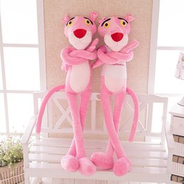 pink panther stuff toy Coupons - 1Pcs 60-130cm Pink Panther Stuffed Plush Toy Big Panther Dolls Leopard Plush Dolls for Teenagers Very Soft Good Quality SH190913