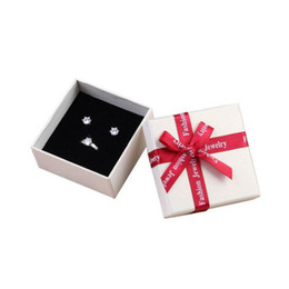 bracelet square shape Coupons - Creative Square jewelry organizer shape box Engagement Ring For Earrings Necklace Bracelet Display Gift Boxes Holder carton bow case