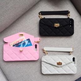 Silikon handtaschen online-iphone x case, für iphone 6 6s 7 8 plus x phone case neue mode weichen silikon karte tasche metallschließe frauen handtasche geldbörse abdeckung mit kette