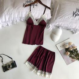 2019 New Arrival Sexy Womens Intimates Lace Lingerie Nightwear Underwear  Babydoll Short Sleepwear 2PC Set Charming Wearing  J05 e3f7677a3