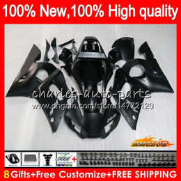 carenado negro mate para r6 Rebajas Bodys para Yamaha YZF600 negro mate YZF600 600cc YZFR6 YZF R6 R6 YZF 600 58HC.14 YZFR6 98 99 00 01 02 1998 1999 2000 2001 2002 carenado